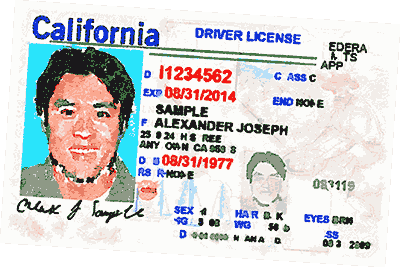 Image of California Driver's License