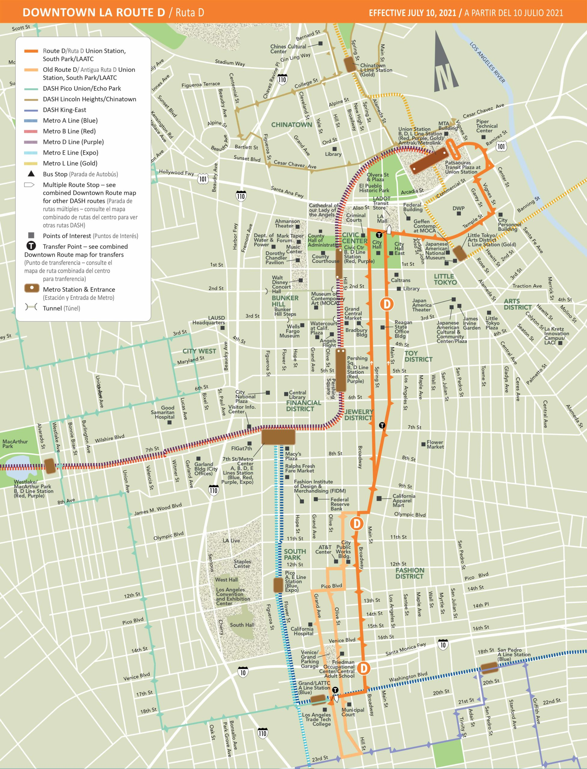 Map of DASH Downtown D